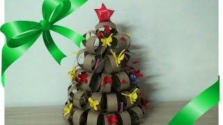 Árvore de Natal de Rolinho de Papel Higiênico por Flores e Flores