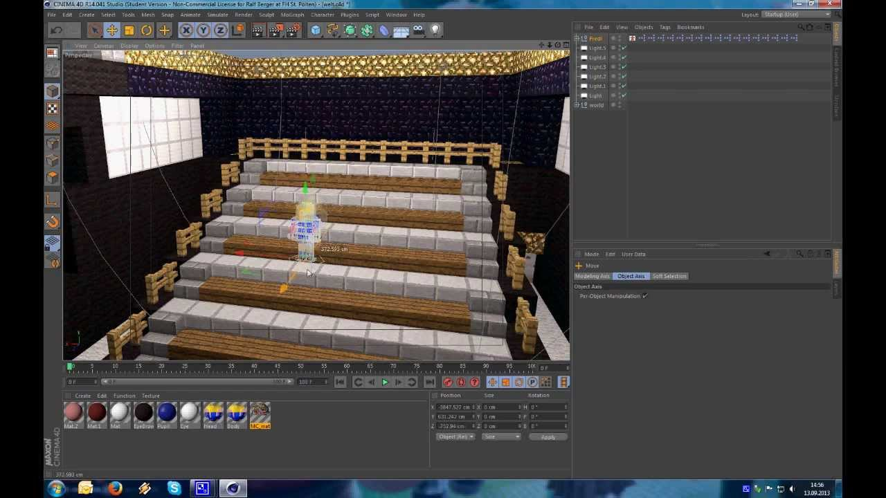 minecraft interior lighting. lighting tutorial daylight and indoor light minecraft cinema 4d interior h