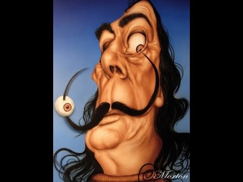 How To Airbrush Salvador Dali Part 1 Caricature techniques
