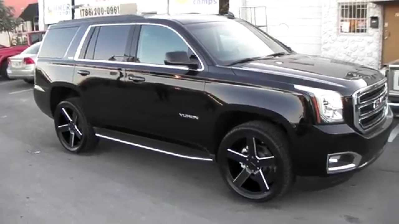 "Gmc Terrain Denali >> 877-544-8473 22"" Inch KMC KM690 Black Truck Rims 2015 GMC Yukon Review Shipping worldwide - YouTube"