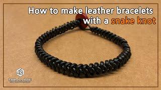 뱀 매듭을 이용한 가죽 팔찌 만들기