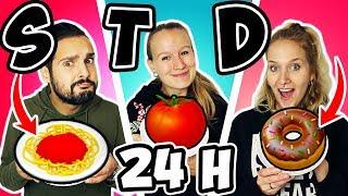 24 Stunden NUR 1 BUCHSTABEN ESSEN - Kaan, Kathi & Nina essen 1 Tag nur Dinge mit S, T, & D
