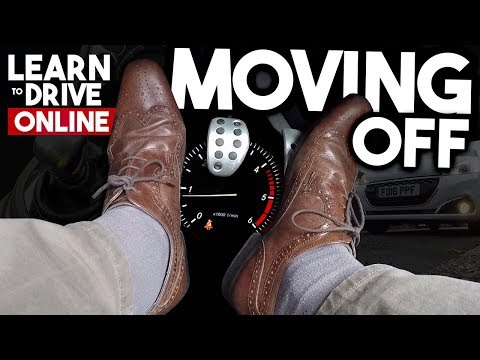 1st TIME: Moving a CAR & Stopping [BEGINNER UK DRIVING LESSON]