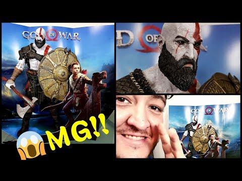LA MEJOR FIGURA GIGANTE DE KRATOS  GOD OF WAR PS4