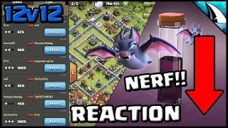 *BAT SPELL NERF* Reaction & TH12 Bat Spell 3 Stars after UPDATE | Clash of Clans