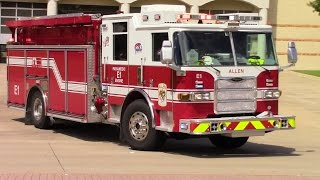 Allen Fire & Rescue Engine 1 Responding