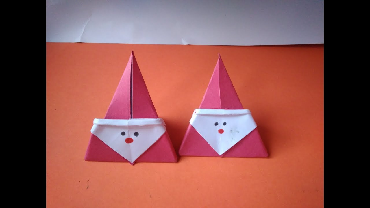DIY - Christmas Origami Santa Claus - Easy origami - How to make ... | 720x1280