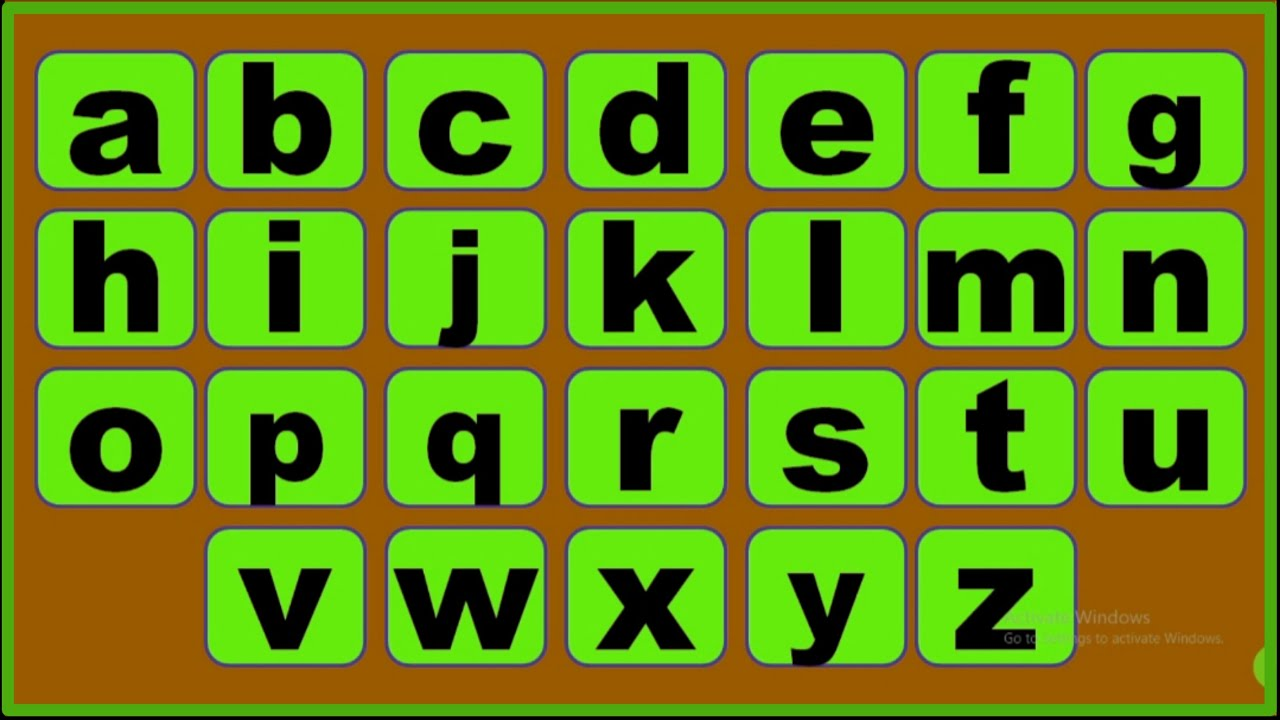 Small alphabet // small letter abcd // a b c d e f g h i j ...