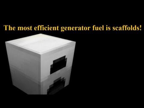 Most efficient TekkitLite wood energy generator system using scaffolds!