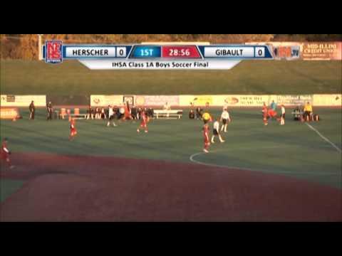 2013 IHSA Boys Soccer Class 1A Championship Game: Waterloo (Gibault Catholic) vs. Herscher