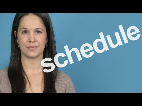How to Pronounce 'Schedule' -- American English