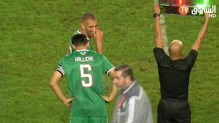 هذا ماذا حدث لحظة دخول رفيق حليش لآخر مباراة له مع الخضر :