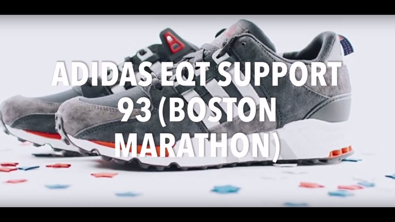 8fa1c5634e4d ADIDAS EQT SUPPORT 93 (BOSTON MARATHON) SNEAKERS NEWS - YouTube