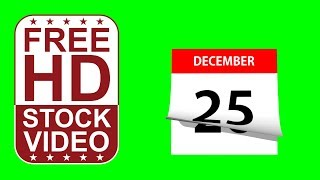 FREE HD video backgrounds – December calendar pages flipping on green screen 3D animation