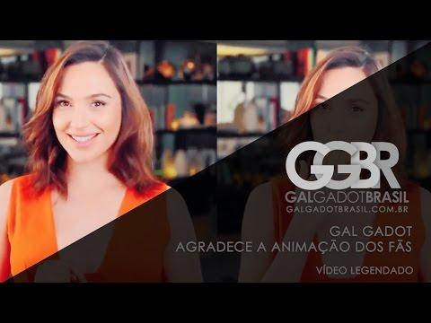 Gal Gadot agradece a animação dos fãs (Legendado)