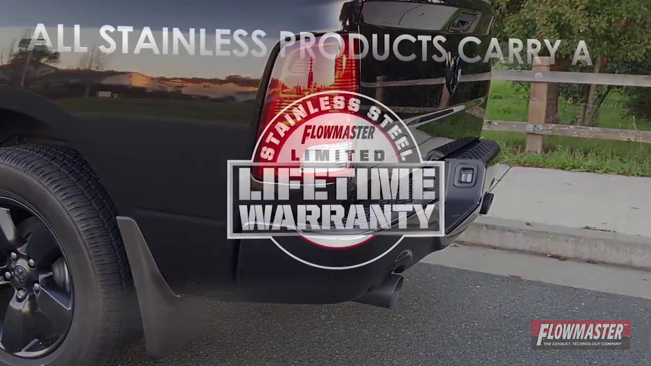 "94-03 Dodge Ram 1500 Stainless 2.5/"" Dual Exhaust Kit Flowmaster 40 Black Tips"