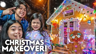 Turning NATALIAS House TO A Gingerbread HOUSE!! | Ranz and niana