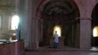 Sound resonance Thoronet Abbaye, Provence - South of France