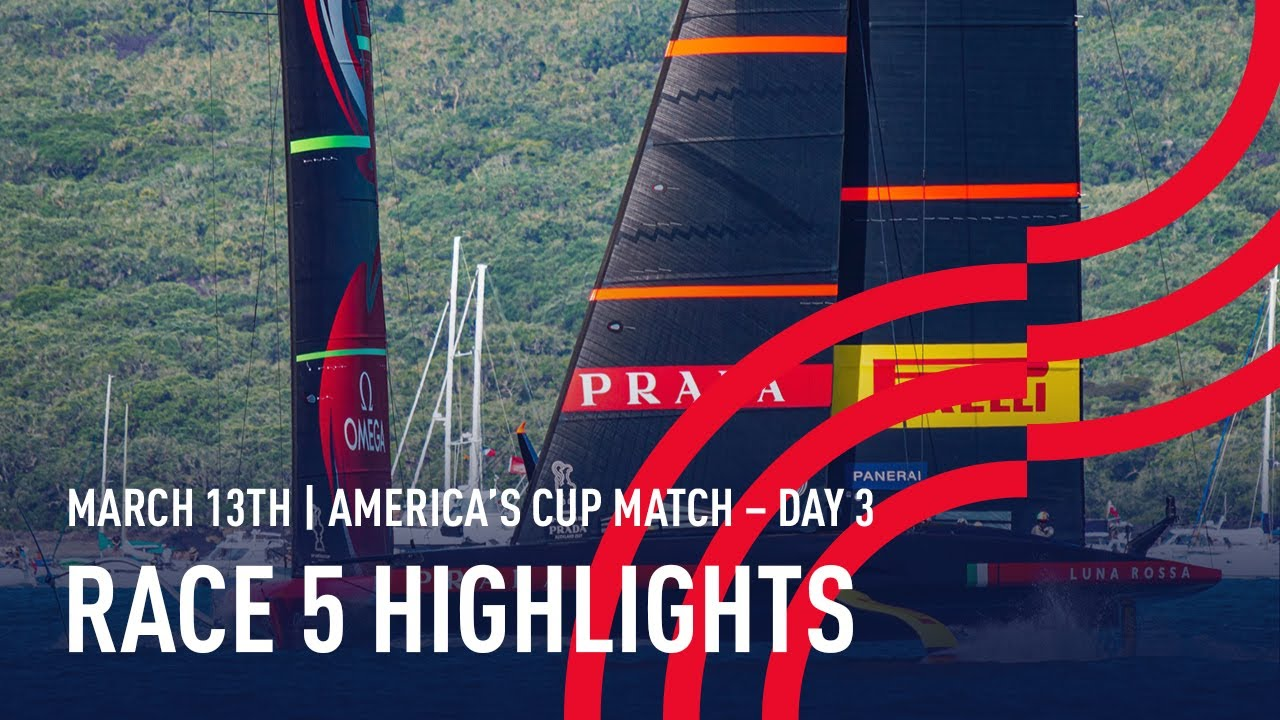 36th America's Cup Race 5 Highlights