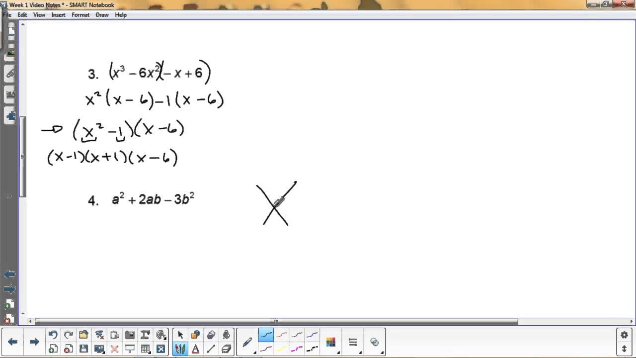 Factoring Mixed Review - YouTube