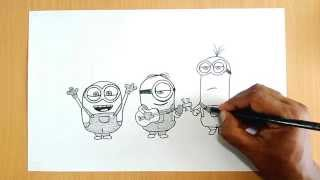 How to Draw Minions (from Despicable Me)