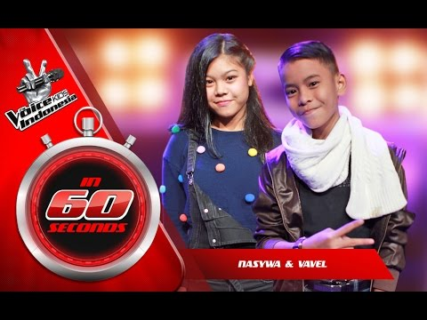 Nasywa dan Vavel   The Blind Auditions   The Voice Kids Indonesia GlobalTV 2016