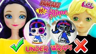 Slime Vs Pancake Art Challenge LOL underwrap