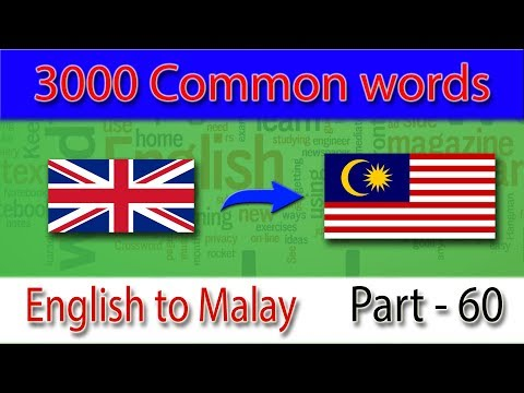 English to Malay | Most Common Words in English Part 60 | Learn English