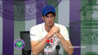 Andy Murray second round press conference