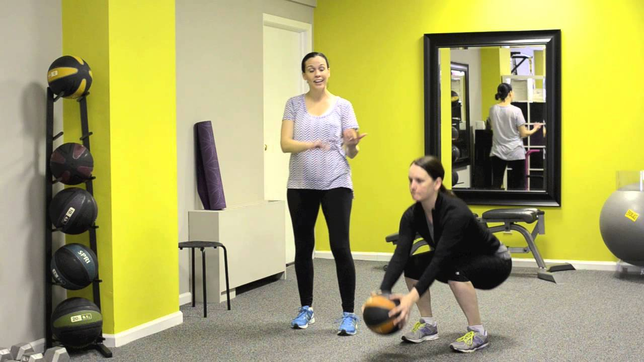 Weekly Exercise: Squats with a Medicine Ball