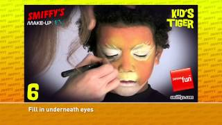 Tiger Face Painting Make-up Tutorials for Children Thumbnail