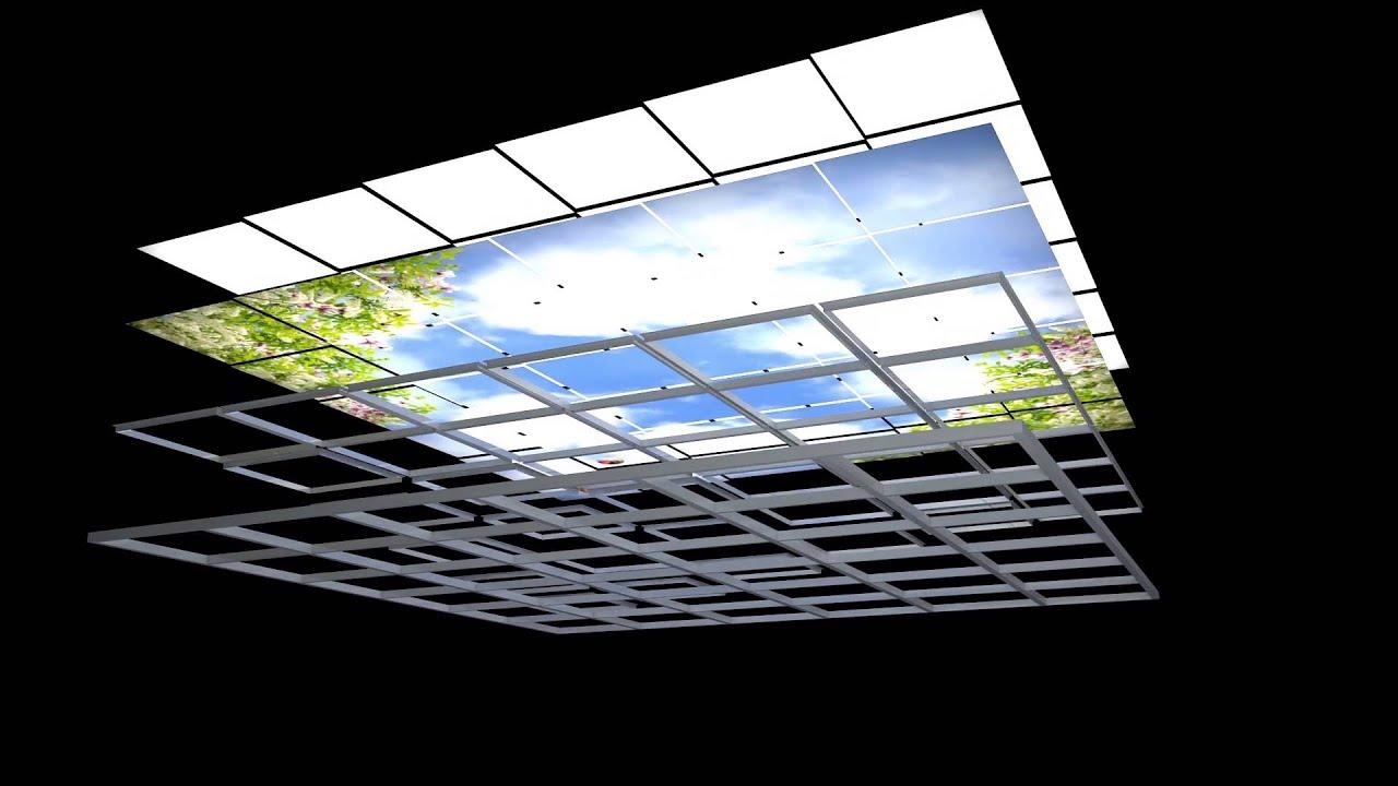 Lichtdecken LED | LumiSky - YouTube