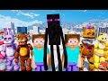 MINECRAFT ENDERMAN & STEVE MOD vs THE ANIMATRONICS! (GTA 5 Mods For Kids FNAF RedHatter)