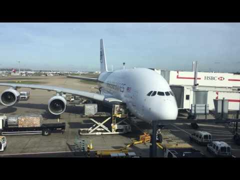 Malaysia Airlines A380 London Heathrow Terminal 4 to KLIA
