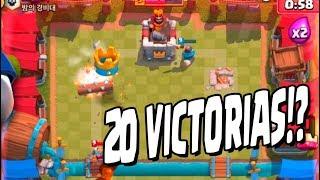 MI MAZO PARA LAS 20 VICTORIAS!! CLASH ROYALE