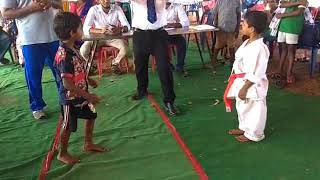Ongole karate and martial arts students