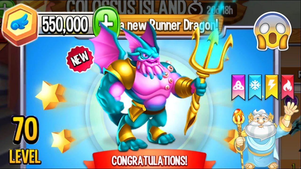 Dragon City: Neptune God Dragon, plus all Neptune Island ...