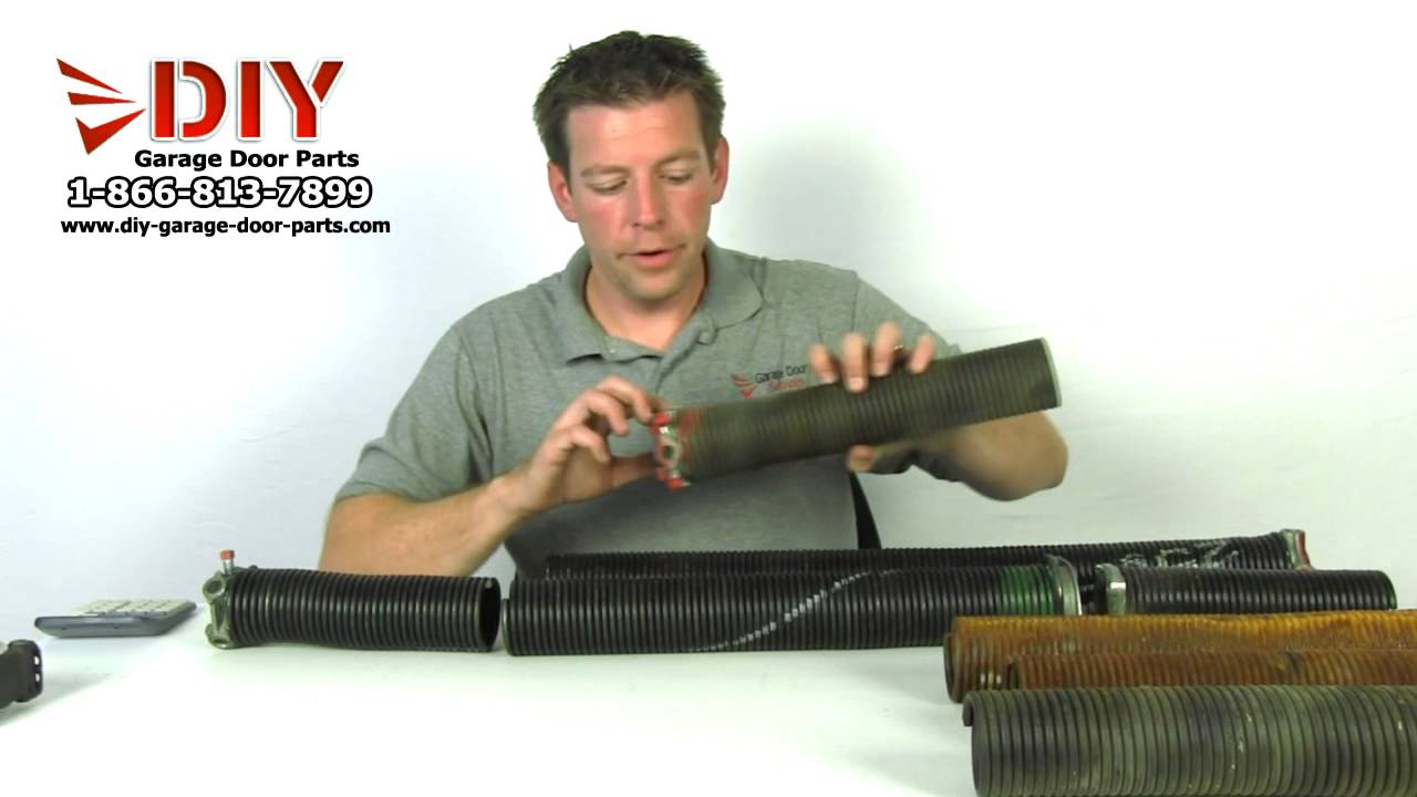 How To Measure A Garage Door Torsion Spring To Order Replacement