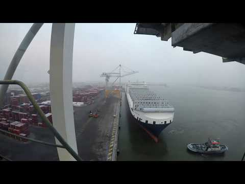 Docking a 56.000TON Ship : the ATLANTIC SAIL (296m) Timelapse!