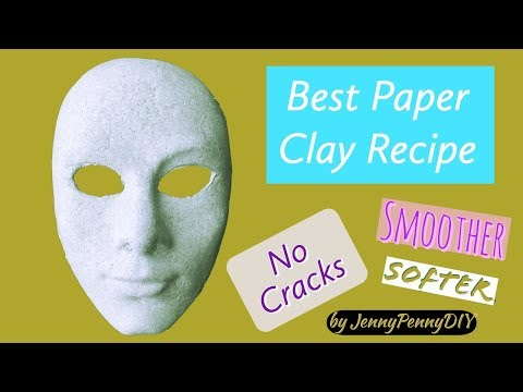 Best Paper Clay Recipe|How to make paper clay at home|diy paper clay|How to make paper mache