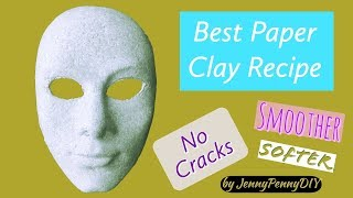 Best Paper Clay RecipeHow to make paper clay at homediy paper clayHow to make paper mache