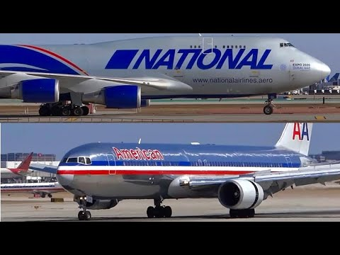 (HD) Airliners, Jumbo Jet Landings and Airport Action - Plan