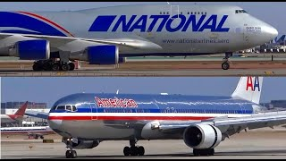 (HD) Airliners, Jumbo Jet Landings and Airport Action - Planespotting Chicago O