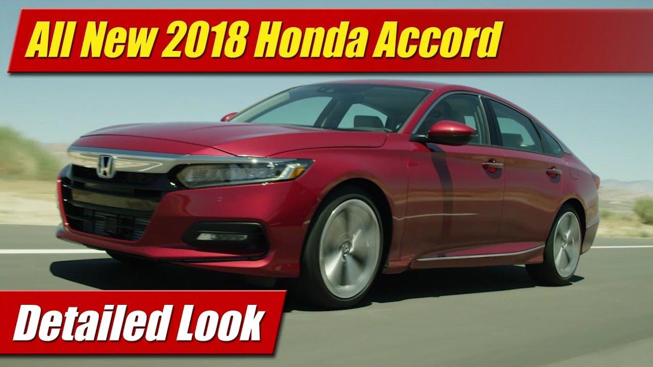 All New 2018 Honda Accord Detailed Look