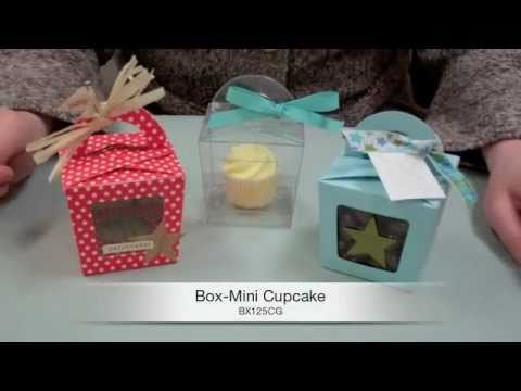 Learn How To Make A Mini Cupcake Box Youtube