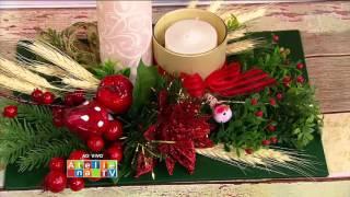 Lindos arranjos para mesa de Natal por Patricia Karagulian