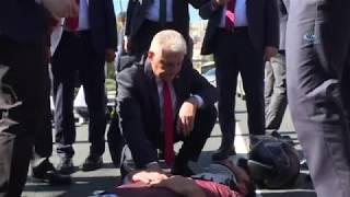 Meclis Başkanı Yıldırım Kaza Yapan Vatandaşlarla Yakından İlgilendi