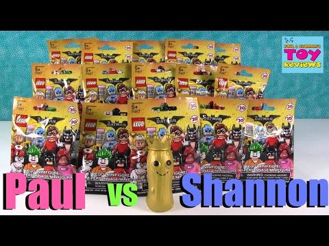Paul vs Shannon Challenge Lego Batman Movie Edition Opening | PSToyReviews