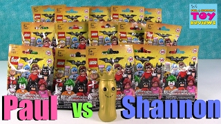 Paul vs Shannon Challenge Lego Batman Movie Edition Opening | PSToyReviews