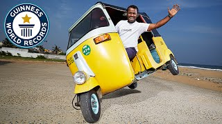 Farthest distance side-wheel driving on a motor tricycle - Guinness World Records